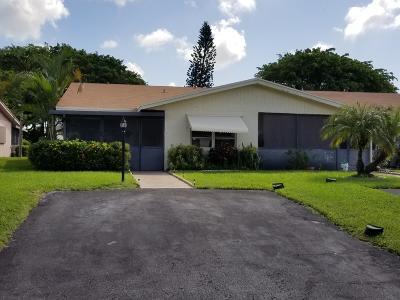 Delray Beach FL Single Family Home For Sale: $139,900