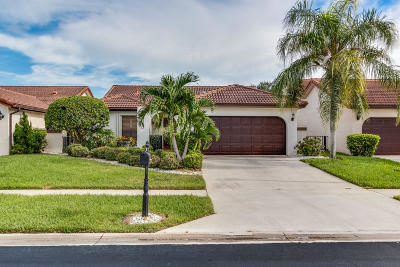 Boca Raton Single Family Home Contingent: 7787 Villa Nova Drive