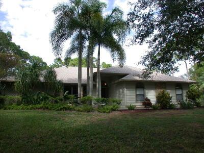 Jupiter Single Family Home For Sale: 10111 Sandy Run Road