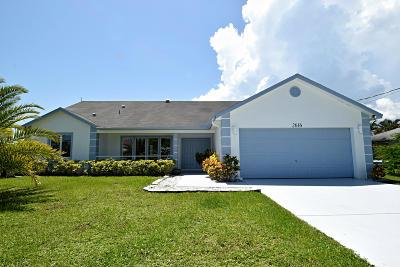 Port Saint Lucie Single Family Home For Sale: 2616 SE Dozier Lane