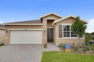 Lake Worth Single Family Home For Sale: 4017 Tomoka Drive