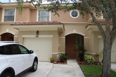 Royal Palm Beach Townhouse For Sale: 333 River Bluff Lane