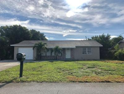 Lake Worth Single Family Home For Sale: 6856 Massachusetts Drive