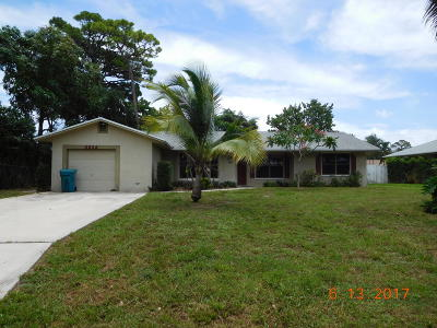 Boynton Beach Single Family Home For Sale: 2634 SW 8th Street