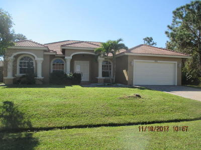 Port Saint Lucie Single Family Home For Sale: 5928 NW Foust Circle