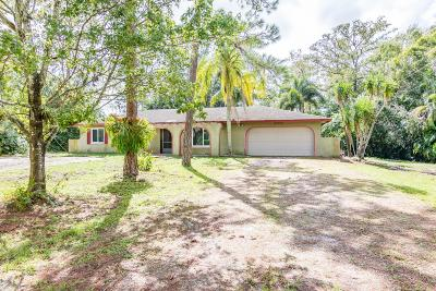 Loxahatchee Single Family Home For Sale: 16700 E Duran Boulevard