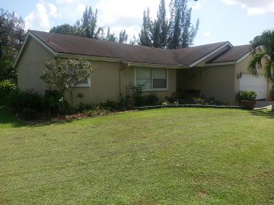 Loxahatchee Single Family Home For Sale: 16390 E Aquaduct Drive