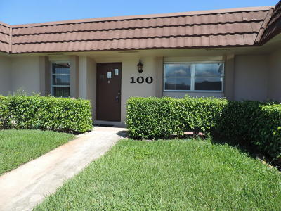West Palm Beach Single Family Home For Sale: 5775 Fernley Drive W #100