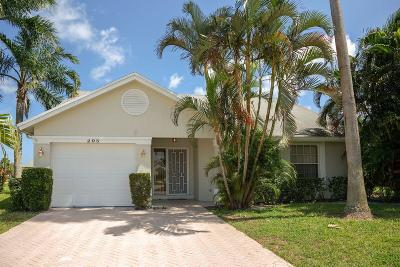 Jupiter Single Family Home For Sale: 295 Moccasin Trail W