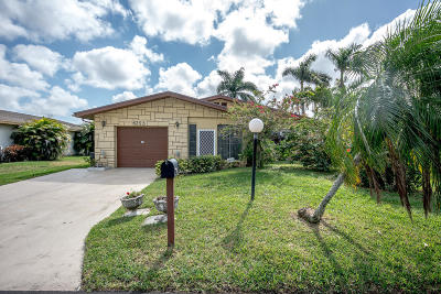 Delray Beach Single Family Home For Sale: 6293 Stanley Lane