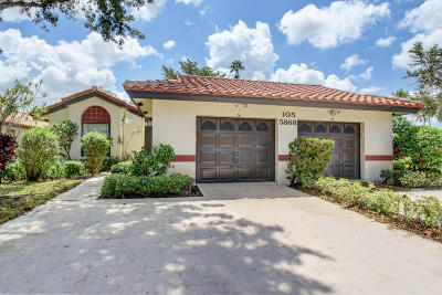 Boynton Beach Single Family Home For Sale: 5868 Sunswept Lane #A