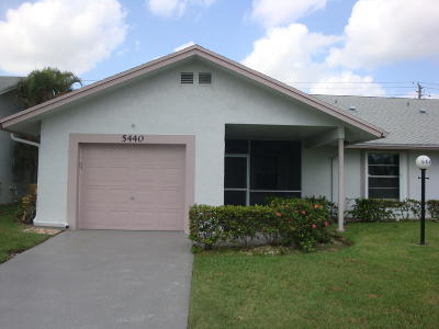West Palm Beach Single Family Home For Sale: 5440 Crystal Anne Drive