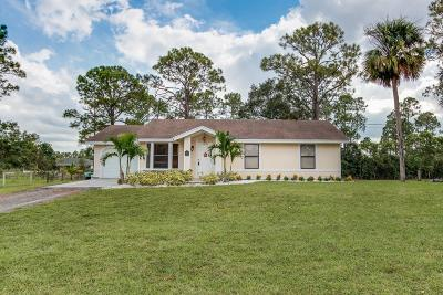 Loxahatchee Single Family Home For Sale: 16562 89th Place