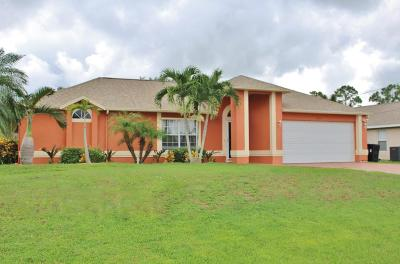 Port Saint Lucie, Saint Lucie West Single Family Home For Sale: 1151 SW Addie Street