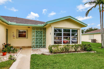 Delray Beach Single Family Home For Sale: 5126 Lakefront Boulevard #D