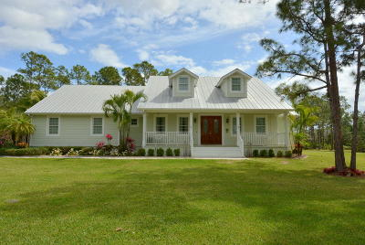 Hobe Sound Single Family Home Contingent: 13757 SE Ranchland Avenue