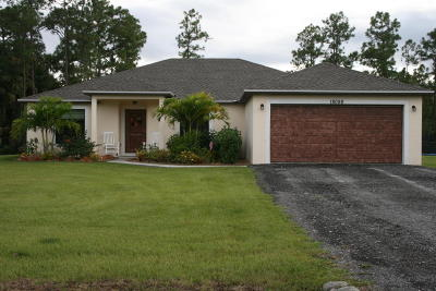 Loxahatchee Single Family Home For Sale: 18098 91st Place
