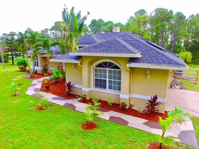 Loxahatchee Single Family Home For Sale: 16728 71st Lane