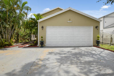 West Palm Beach Single Family Home For Sale: 1340 Strawberry Lane