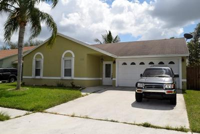 Lake Worth Single Family Home For Sale: 5444 Chicory Lane