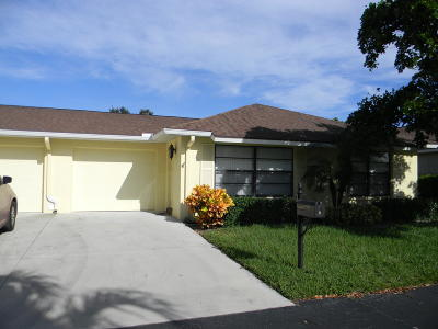 Boynton Beach Single Family Home For Sale: 9885 Tabebuia Tree Drive #B