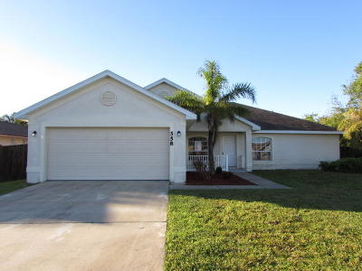 Port Saint Lucie Single Family Home For Sale: 558 SW Grove Avenue