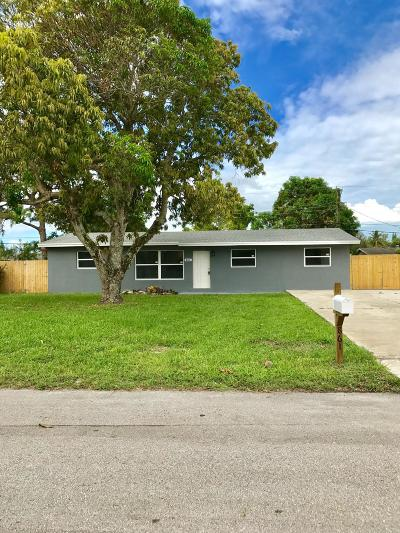 West Palm Beach FL Single Family Home For Sale: $274,900
