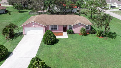 Port Saint Lucie Single Family Home Contingent: 267 SW Crescent Avenue