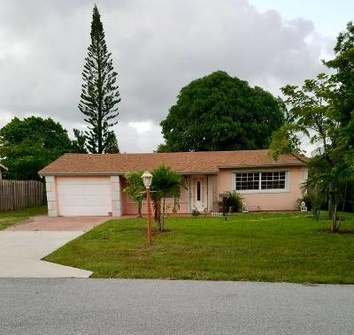 Boynton Beach FL Single Family Home For Sale: $219,000