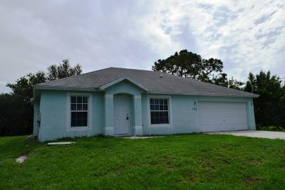 Port Saint Lucie Single Family Home Contingent: 773 NW Sable Street