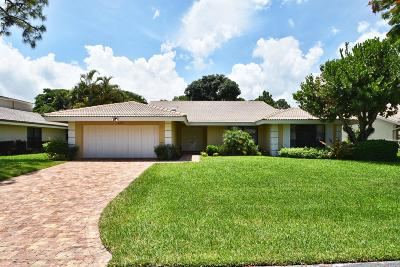 Delray Beach Single Family Home For Sale: 652 Lakewoode Circle W