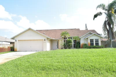 Port Saint Lucie Single Family Home Contingent: 2226 SW Edison Circle