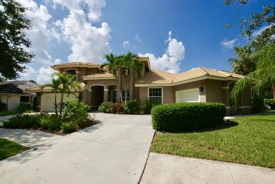 Jupiter Single Family Home For Sale: 18421 Lake Bend Drive