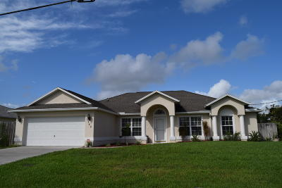 Port Saint Lucie Single Family Home For Sale: 3742 SW Lachine Street
