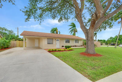 Jupiter Single Family Home For Sale: 508 W Whitney Drive