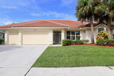 Jupiter Single Family Home For Sale: 6180 Winding Lake Drive
