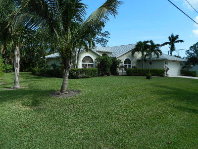 Stuart Single Family Home For Sale: 4709 SE Robertson Road