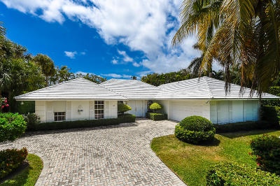 Palm Beach Single Family Home For Sale: 210 Palmo Way