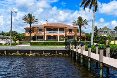West Palm Beach Single Family Home For Sale: 6709 S Flagler Drive