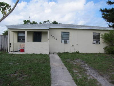 Lake Worth Single Family Home For Sale: 1006 14th Ave S