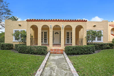 West Palm Beach Single Family Home For Sale: 2015 Lake Avenue