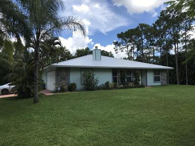 Jupiter Single Family Home For Sale: 18390 126th Terrace