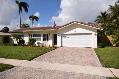 Boca Raton Single Family Home For Sale: 61 SW 9th Terrace
