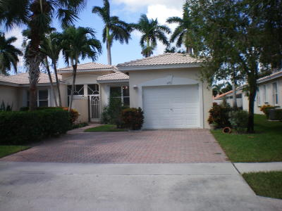 Boynton Beach Single Family Home For Sale: 9751 Crescent View Drive S