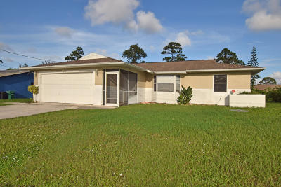 Port Saint Lucie Single Family Home For Sale: 1849 SE Aneci Street