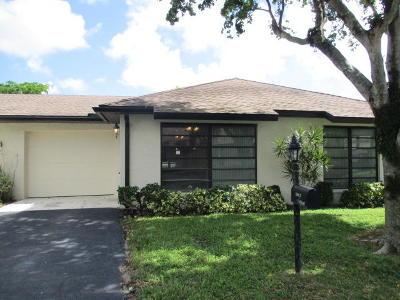 Boynton Beach Single Family Home For Sale: 4776 Greentree Drive #B