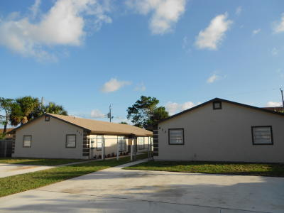 Riviera Beach Multi Family Home For Sale: 915 & 925 W 36th Street
