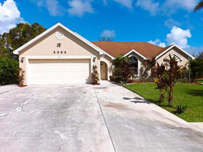 Port Saint Lucie Single Family Home For Sale: 2365 SE Luau Avenue