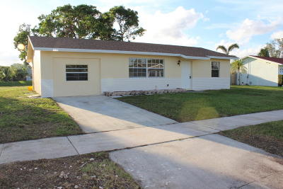 Boynton Beach Single Family Home For Sale: 8109 St John Avenue W
