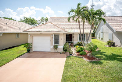 Boynton Beach Single Family Home Contingent: 12998 Hampton Lakes Circle